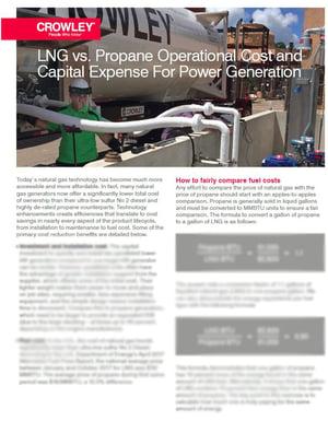 Costs of LNG vs. Propane